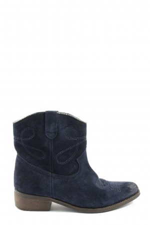 Shoe Colate Western Booties blue themed print casual look