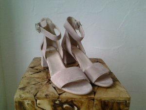 Shoe the Bear Strapped High-Heeled Sandals dusky pink leather
