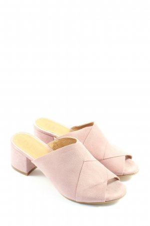 Shoe the Bear Mule à talon rose style décontracté