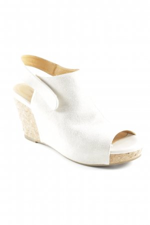 Shoe the Bear Keil-Pumps hellbeige Boho-Look
