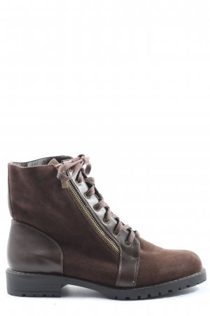 shoedazzle Lace-up Booties brown casual look
