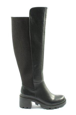 shoedazzle Wide Calf Boots black casual look