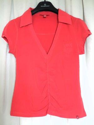 edc by Esprit Camisa con cuello V rojo ladrillo