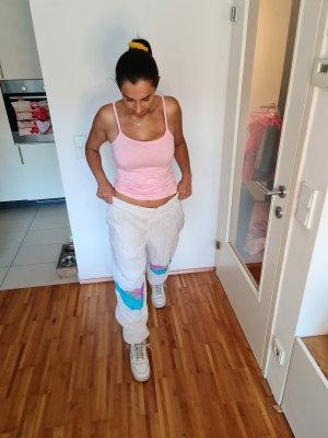 Pantalon de ski blanc-rose