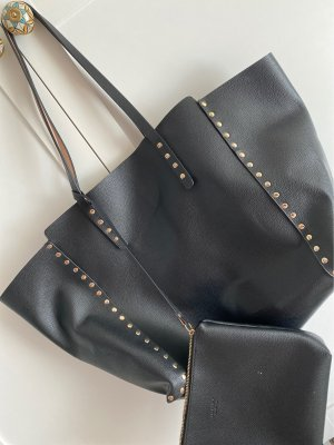 Zara Shopper noir-or rose