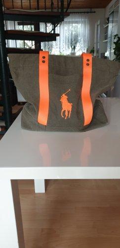 Polo Ralph Lauren Shopper neonoranje-olijfgroen