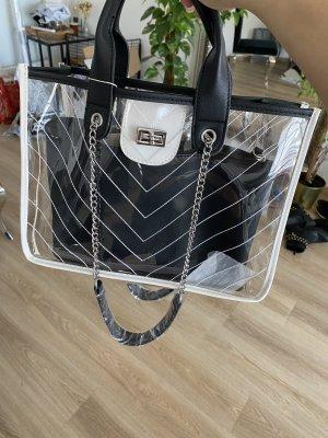 Shopper white-black