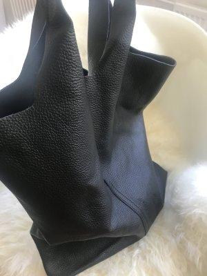 Shopper Außergewöhnliche Leder weich Design schwarz TOP