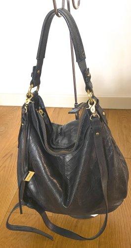 Nannini Shopper bleu foncé-doré cuir