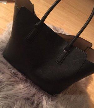 H&M Torba shopper czarny-beżowy
