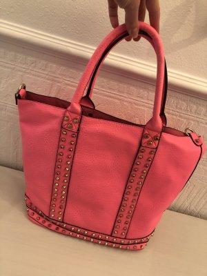 Hallhuber Shopper neon pink leather