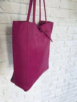 Shopper Handtasche Ledertasche Pink neu Ledershopper Henkeltasche