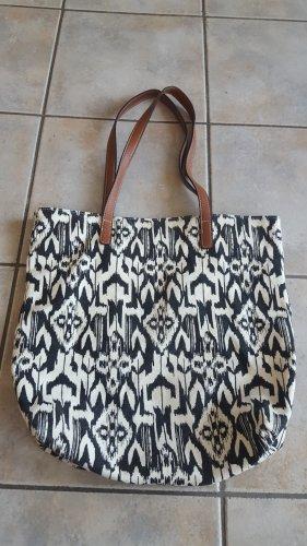 """""""Shopper"""" Handtasche mit schwarz-weiß Muster"""