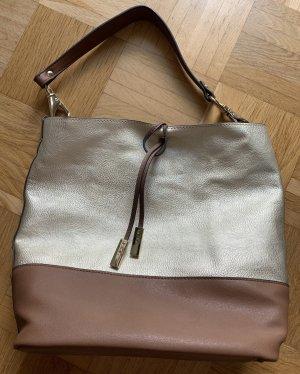 Shopper in braun / gold