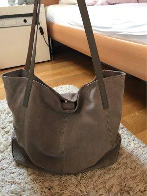 Kiomi Shopper gris cuir