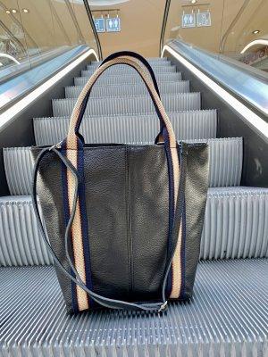 Shopper Ledertasche Tasche Umhängetasche Schwarz Neu