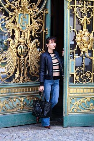 Zara Torba shopper czarny Tkanina z mieszanych włókien