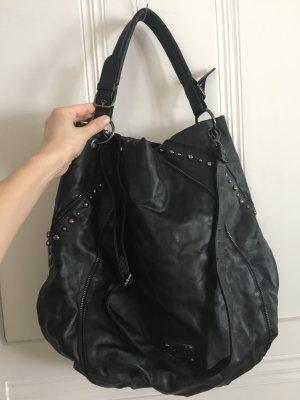 Mötivi Shopper noir-argenté faux cuir