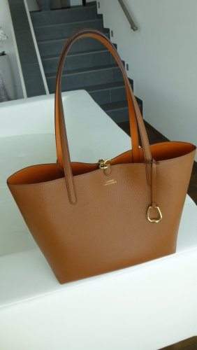 Shopper Ralph Lauren Reversible-Tote tan/orange (braun)