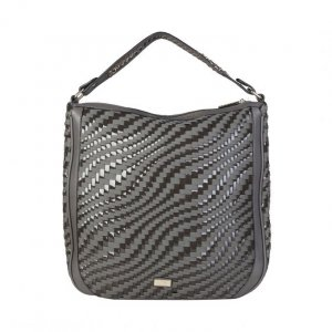 Shopper Scultertasche grau Shopper NEU geflochten