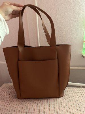 Zara Borsa shopper cognac-marrone