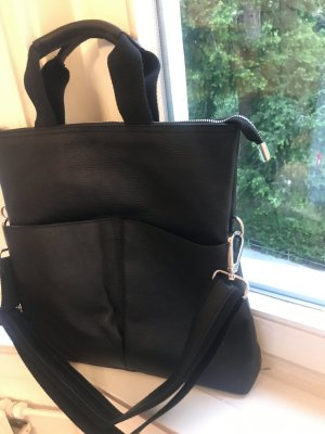 Shopper Tasche Ledertasche Umhängetasche schwarz Leder TOP NP 199€