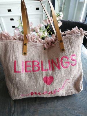 Shopper stoffig roze-roze