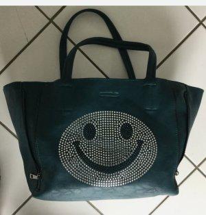 Handbag cadet blue-petrol