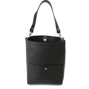 Shopper Tasche schwarz Echtleder Damen neu