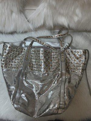 Shopper Tasche silber - glitzer