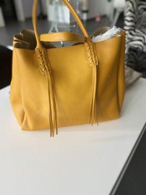 Lanvin Borsa shopper giallo-oro Pelle