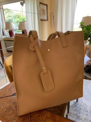 Börse in Pelle Shopper sand brown