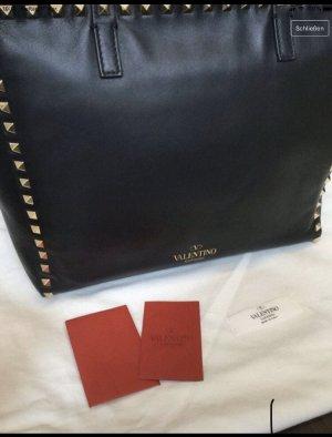 Valentino Garavani Torba shopper czarny-złoto