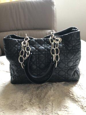 Shopper von Lady Dior schwarz gesteppt