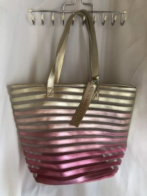 Pink Victoria's Secret Shopper pink-gold-colored