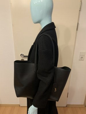 Yves Saint Laurent Torba shopper czarny-złoto Skóra