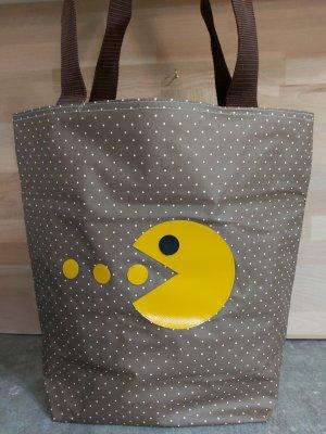 Shopper Wachstuchtasche Schultertasche Pacman Strandtasche