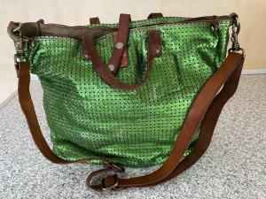 Campomaggi Shopper groen-bruin