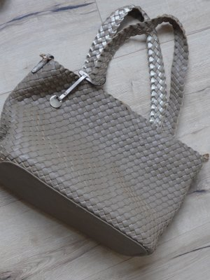 Shopper goud-grijs-bruin