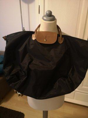 Torba shopper czarny-jasnobrązowy Nylon
