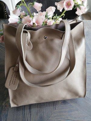 Shopperbag Große Tasche Echtes Leder Nude Farben