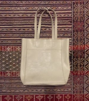 Carry Bag natural white imitation leather