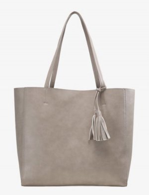 Shopper gris clair