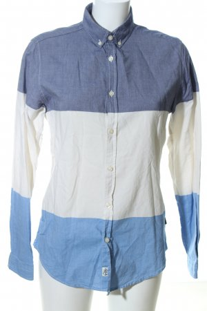 Urban Outfitters Jeansbluse blau-wollweiß Streifenmuster Casual-Look