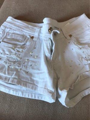 0039 Italy Hot pants bianco Cotone