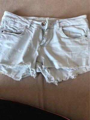 Zara Short en jean bleu azur coton