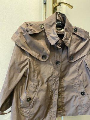 Burberry London Krótki płaszcz szaro-liliowy