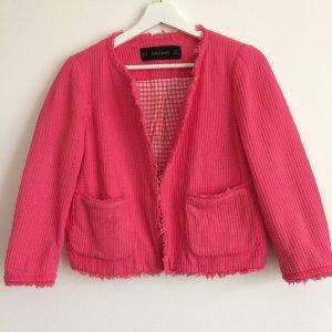 Short Cotton Tweed Blazer in Chanel Style