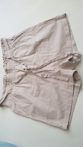 Only Short taille haute blanc-beige