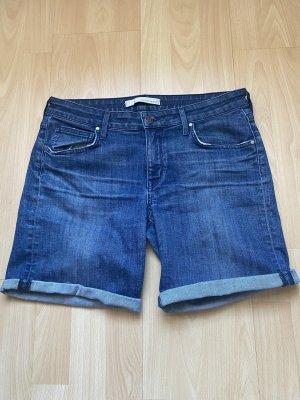 Rich & skinny Pantaloncino di jeans blu acciaio Cotone